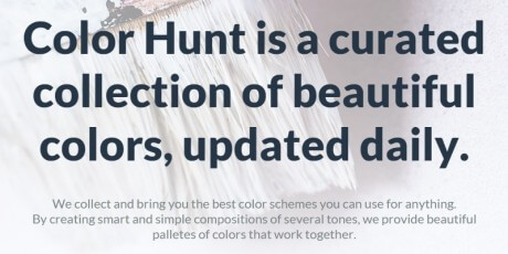 curated color schemes collection