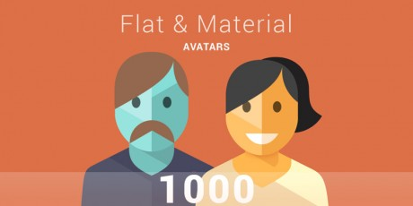 flat material style characters