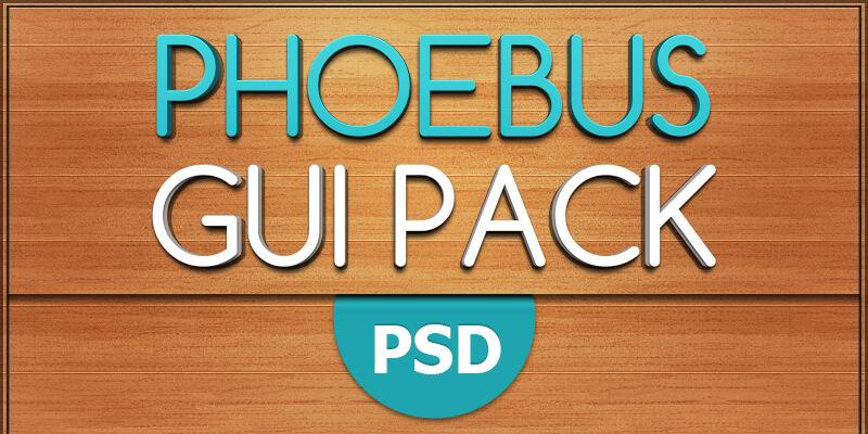 Phoebus: Free Modern PSD GUI Pack | Bypeople