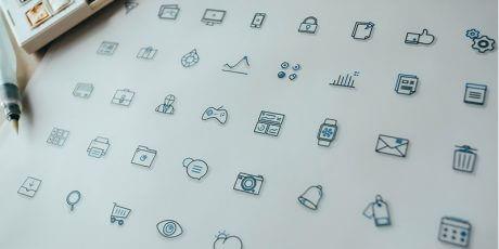 free outline psd ai icons set