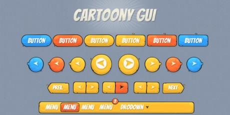 gaming cartoon style psd ui kit