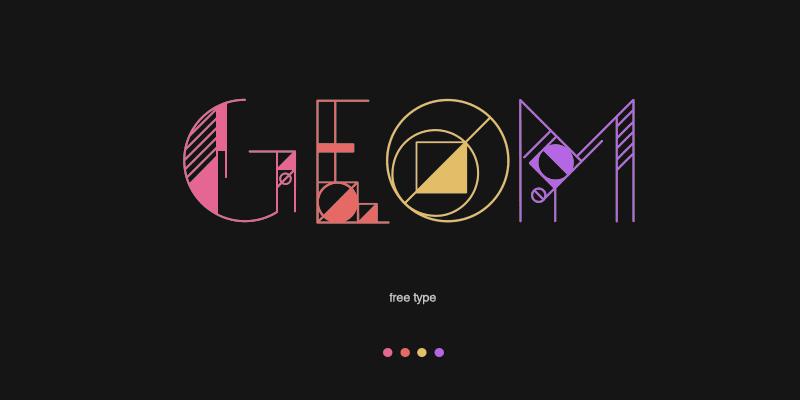 geometrical ai typeface