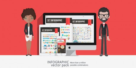infographics design vector pack