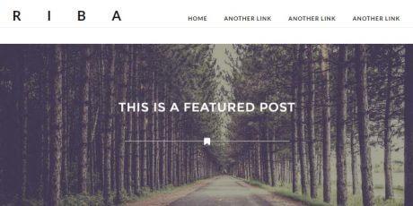 minimal blogging wordpress theme
