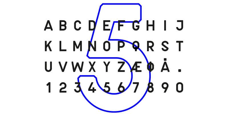 modern trimmed corners font