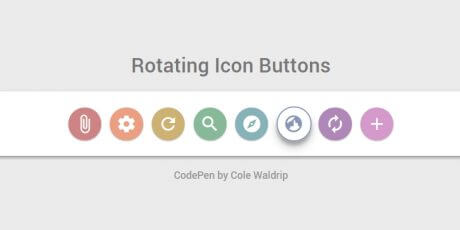 rotating icon buttons css snippet