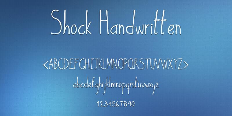 stylish handwritten font