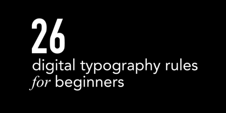 typography rules begginers tutorial