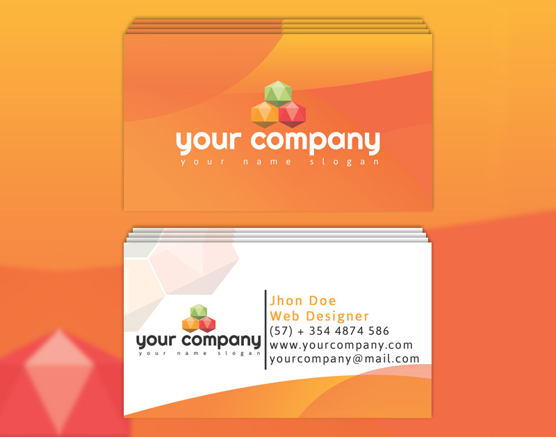 Tangerine: Gradient Business Card Template   Bypeople