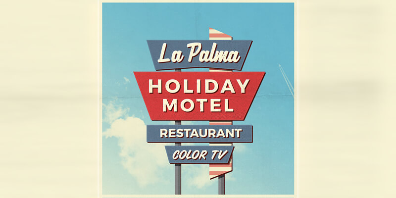 4 Vintage Motel Sign PSD Mockups - ByPeople
