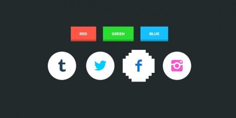 8 bit icons hover effects