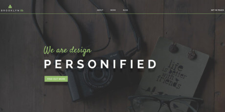 clean portfolio web template psd