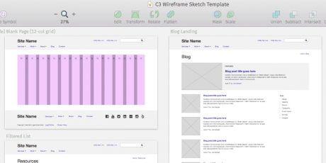 desktop mobile sketch wireframing template