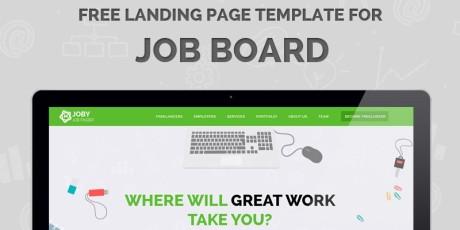flat landing page psd template
