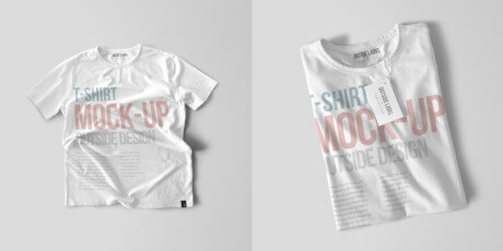 free t shirt psd mockups set