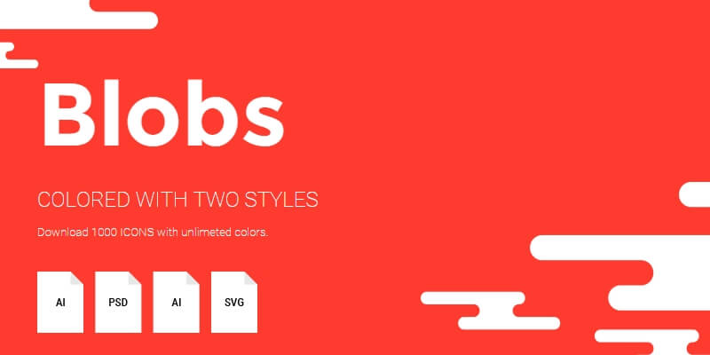 Blobs: Highly Detailed Flat Icons
