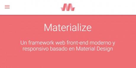 material design front end framework