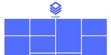 minimal cascading grid layout