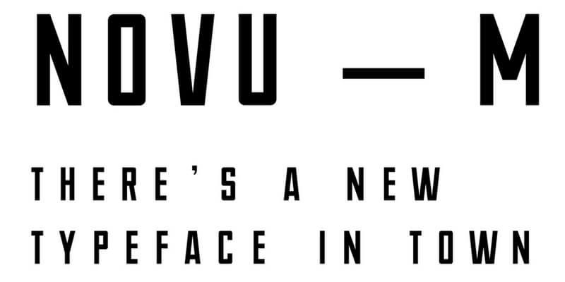 narrow modern font