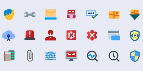 security material icons set