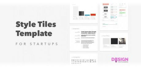 startups style tiles sketch template