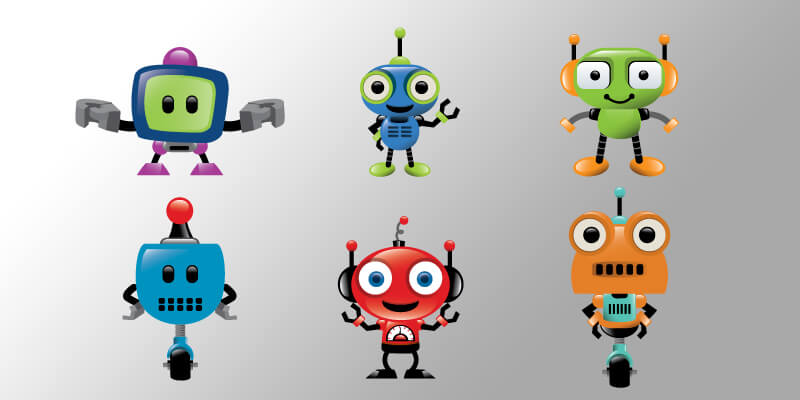 vector robot mascot pack bypeople