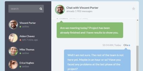 web chat widget