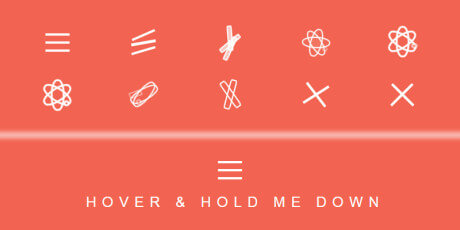 animated css hover effect menu icon