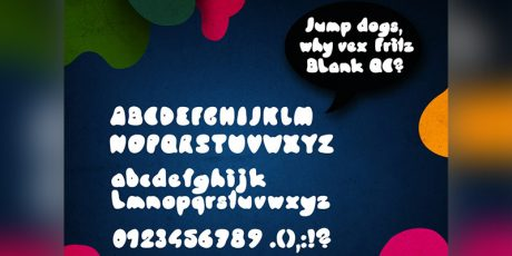 bubbly abstract font