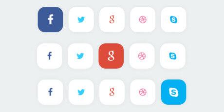 css material design social buttons