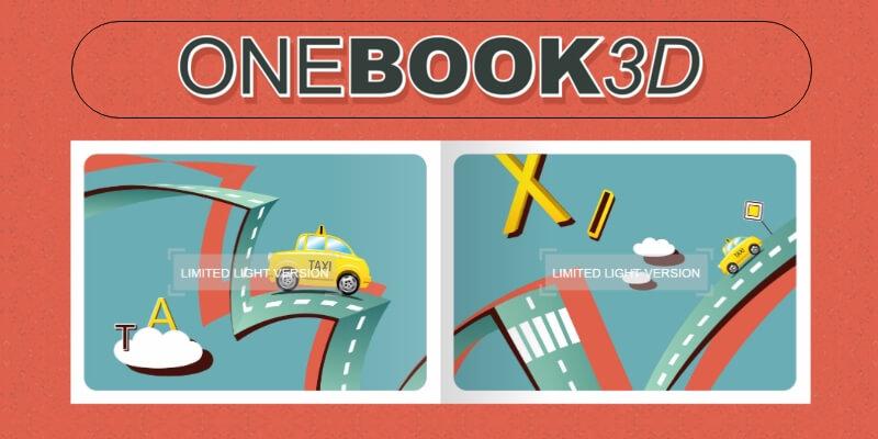 OneBook3D: Free Flip-book jQuery Plugin | Bypeople