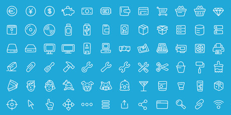 general office line icons