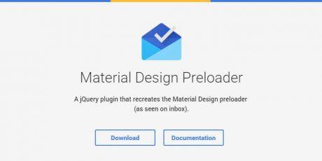 jquery material design preloader