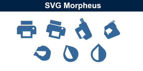 morphing svg icons javascript library