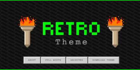 retro gaming wordpress theme