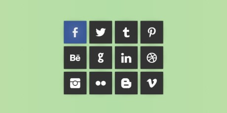 social flip cards