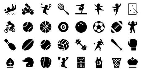 sport iphone icon set