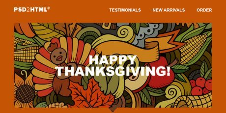 thanksgiving email psd html template