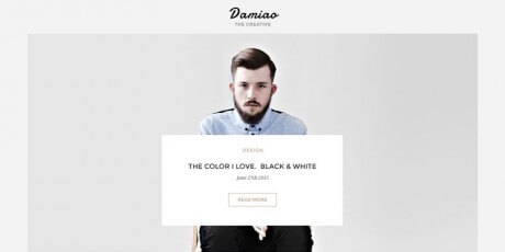 black white web psd template