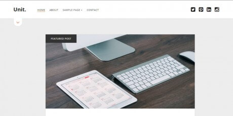 modern clean blog wordpress theme