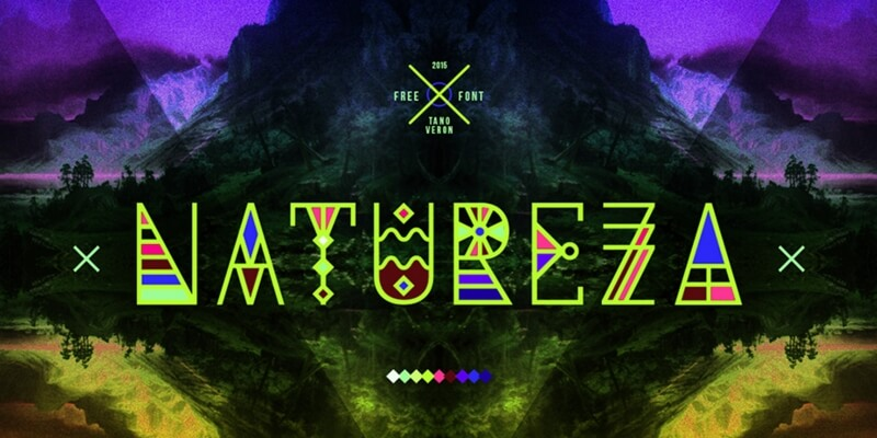 multi style nature typeface