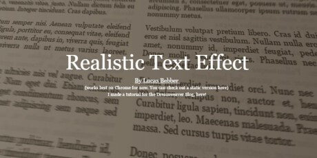 realistic text effect
