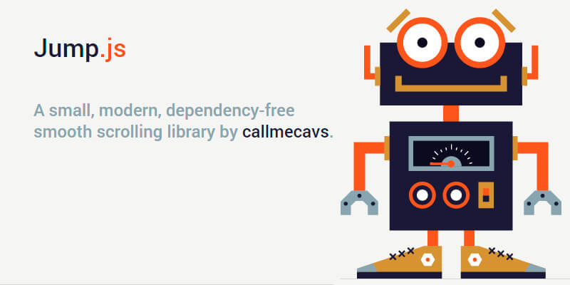 Jump js: Dependency Free Scrolling Library   Bypeople