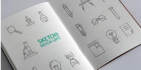sketchbook psd mockup set