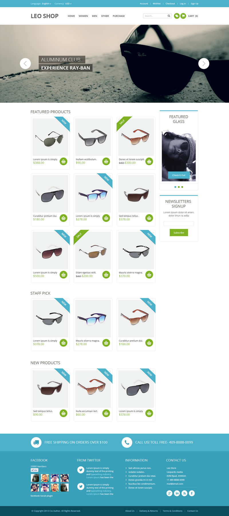 Online shop psd website template bypeople for Design online shop