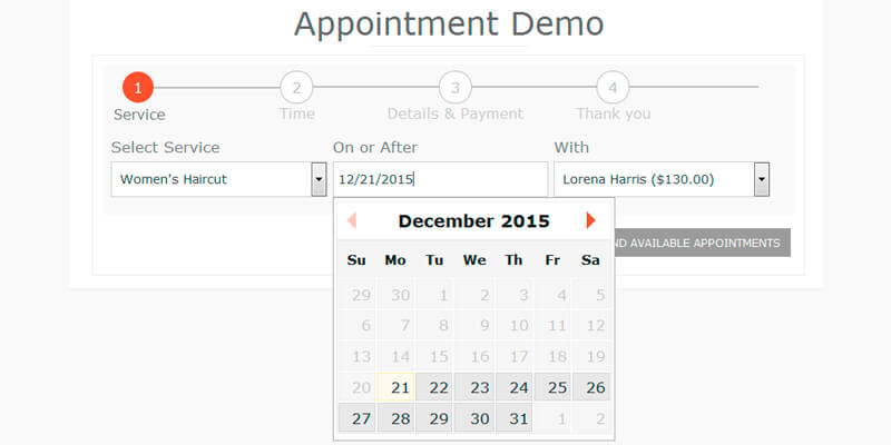 booking appointment plugin