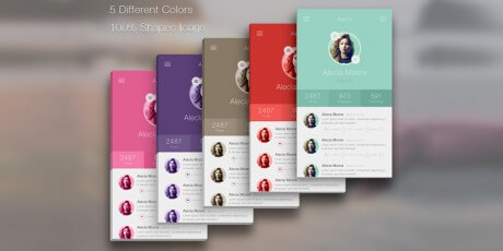 clean iphone profile app psd