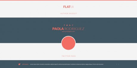 flat one page website psd ui kit