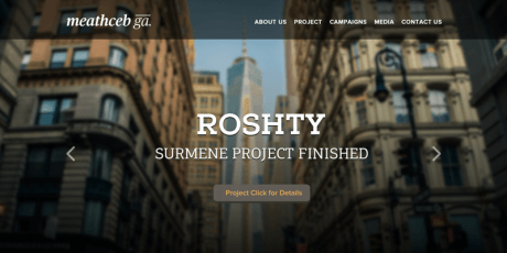 free one page psd template architect