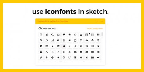 icon fonts sketch plugin